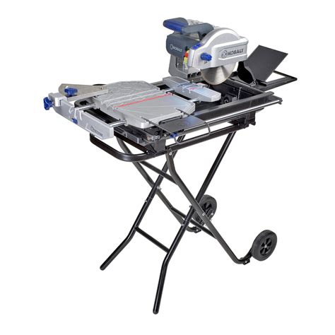 shop kobalt 8 in slide tile saw with stand at lowes com