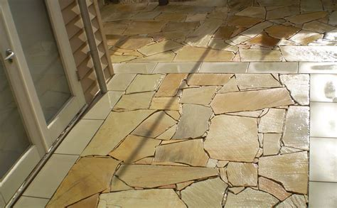 indian sandstone natural crazy paving alresco