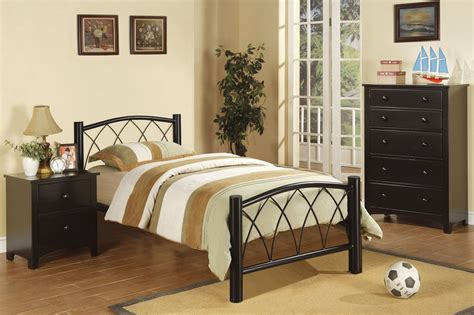 black metal twin size bed steal  sofa furniture outlet