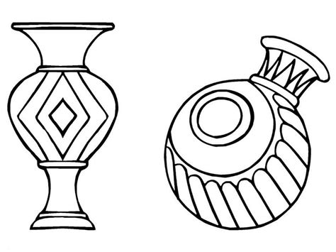 Vase Color by Vase Coloring Pages To And Print For Free