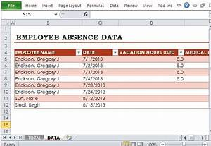 Productivity Tracker Excel Template Free Employee Absence Tracker For Excel