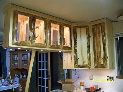custom built kitchen cabinets hand made rustic aspen log kitchen cabinets and built in