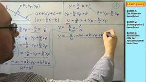 Abstand Punkt Gerade Berechnen : geometrie in der ebene geraden abstand punkt gerade beweis der abstandsformel youtube ~ Themetempest.com Abrechnung