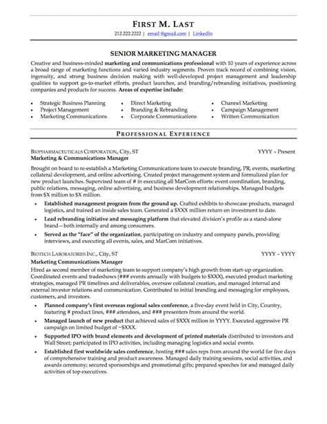 Exles Of Professional Resumes by Mid Career Resume Sle Professional Resume Exles