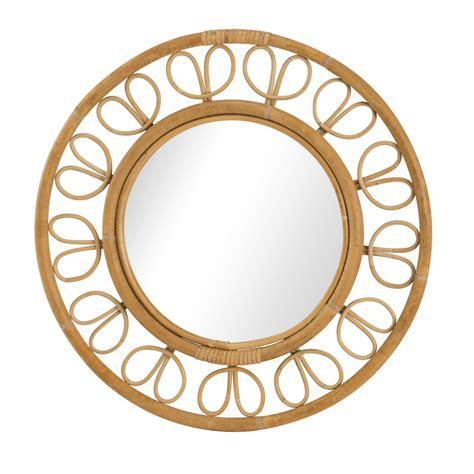miroir en rotin miroir rotin naturel vintage ruban