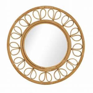 Miroir En Rotin : miroir rotin naturel vintage ruban ~ Nature-et-papiers.com Idées de Décoration