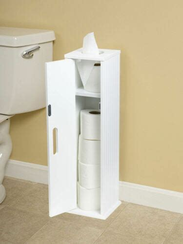 Toilet Roll Holder Cupboard by White Wood Standing Toilet Paper Roll Holder Bathroom