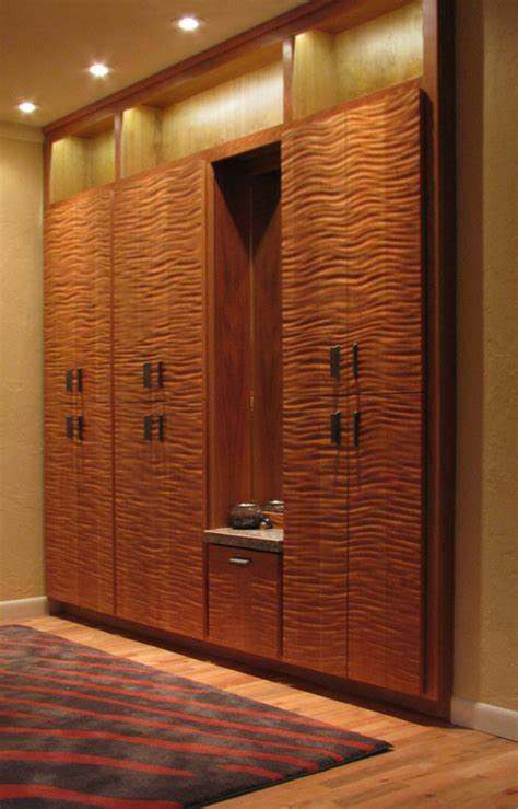 textured wardrobe cabinetry  doors