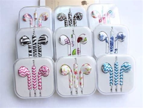 apple earpods colors technology earphones pattern flowers boots