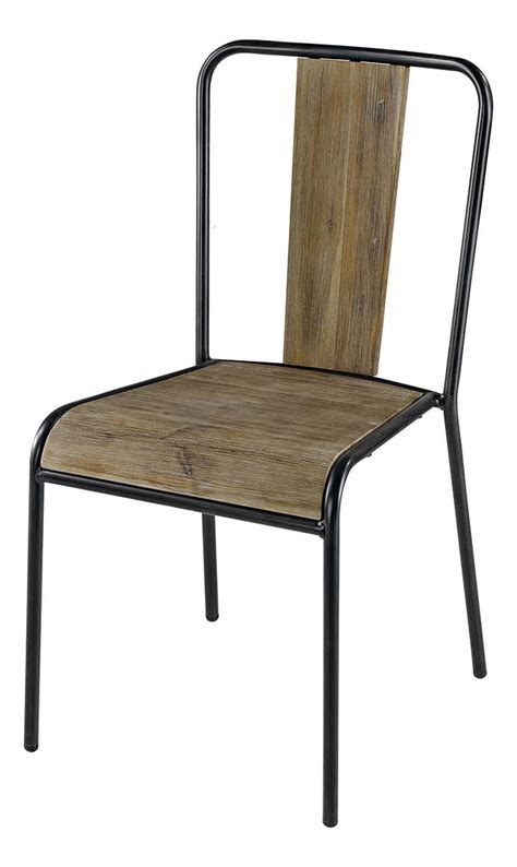 chaise metal bois chaise bois et metal industrial furniture bistro chair in