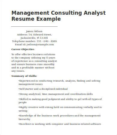 management consulting resume templates