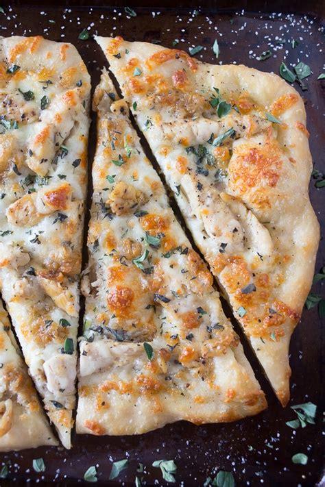 roasted garlic chicken pizza  tasty california pizza