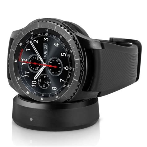 daily deal samsung gear s3 frontier verizon smartwatch w rubber band l black