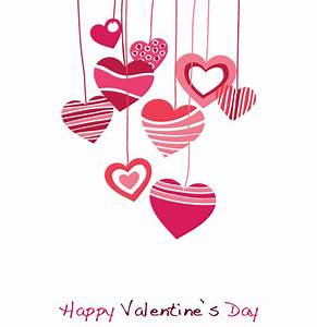 Happy Valentines Day Vector Graphic with Hanging Heart ...