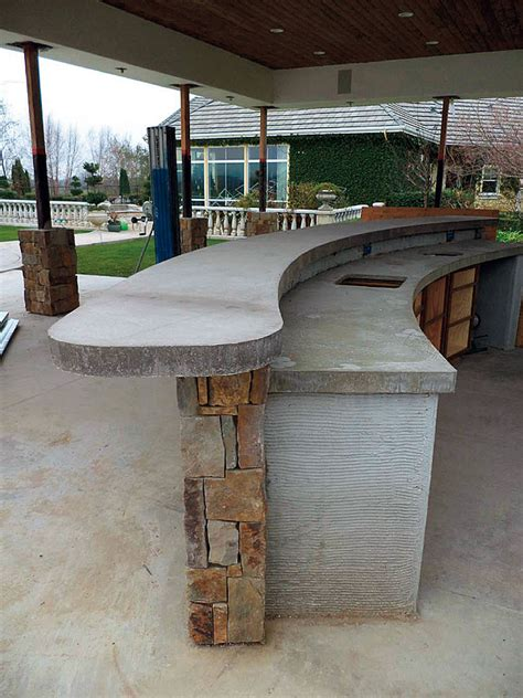 Cast In Place Concrete Countertop by A Veteran Concrete Floor Takes On A High End Cast In
