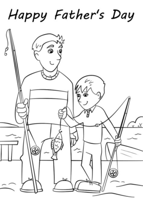 fathers day coloring page coloring page book  kids