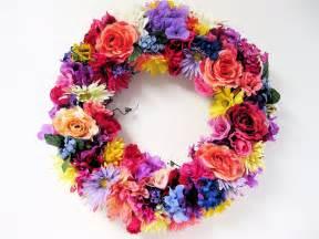 summer wreath mix silk floral by sandynewhartdesigns