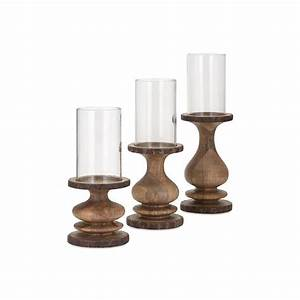 Home Decorators Collection Braelyn Natural Wood Candle