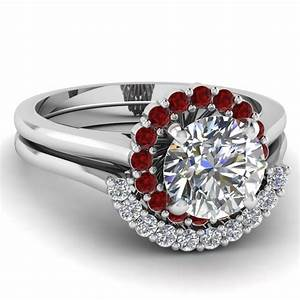 Narrow floral set fascinating diamonds for Wedding rings with rubies and diamonds