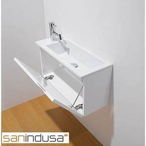 meuble lave mains wc toilettes pinterest toilette With salle de bain design avec mini vasque lave main