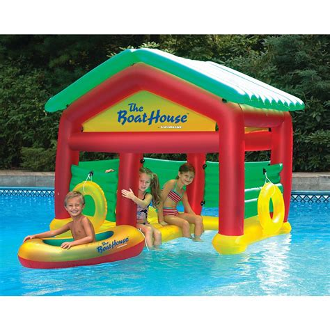 Inflatable Boats Home Depot by Swimline Boathouse Inflatable Floating Pool Habitat 9081