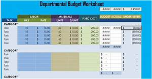Marketing Budget Xls Departmental Budget Worksheet Excel Xlstemplates