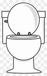 Toilet Clip Clipart Lid Flush Kid sketch template