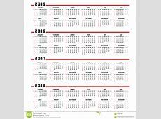 Calendar 2015, 2016, 2017, 2018 Stock Vector Image 46341089