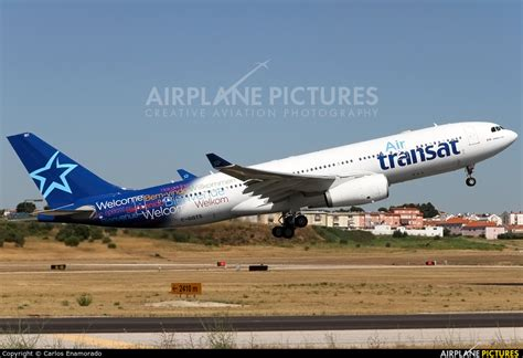 c ggts air transat airbus a330 200 at lisbon photo id