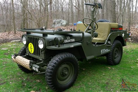 vintage military jeep 1951 willys m38 fully restored antique army military