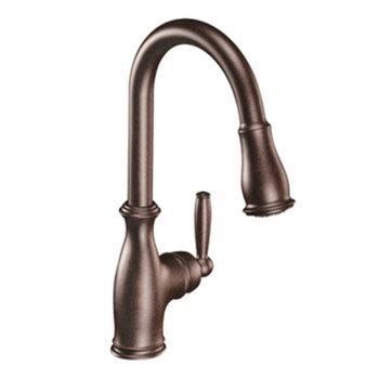 Moen Brantford Kitchen Faucets by Moen 7185orb Brantford One Handle High Arc Pulldown