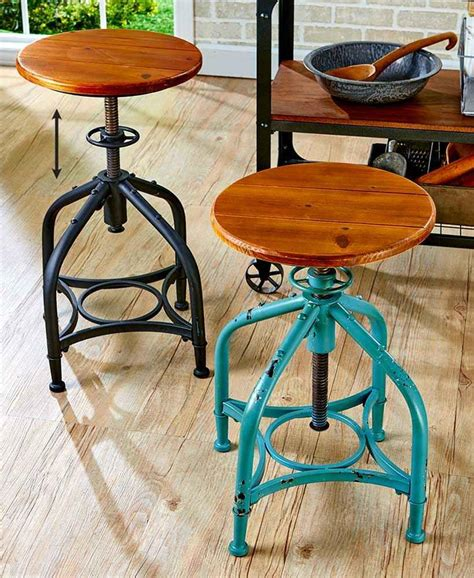 distressed wood bar stools vintage industrial distressed swivel bar stool adjustable 6795