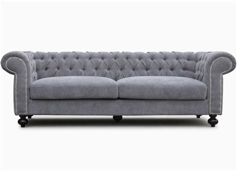 canapé chesterfield tissu gris chesterfield tissu gris 3 places contemporain