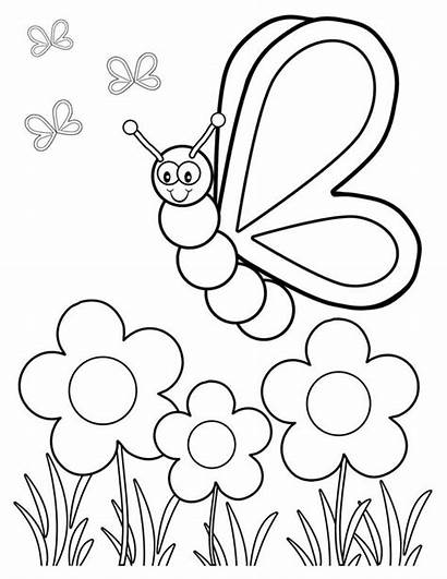 Coloring Garden Butterfly Friendly Pages Colouring Cartoon