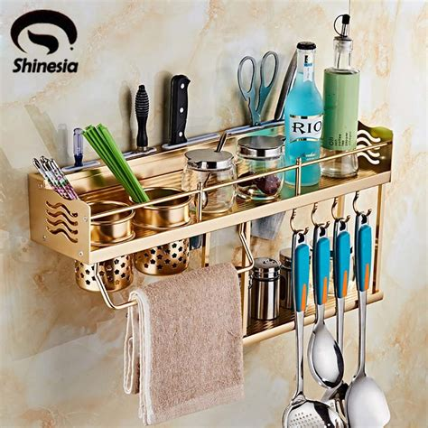 wall mounted kitchen organizer golden kitchen storage aluminium spice rack cabinet and 6950