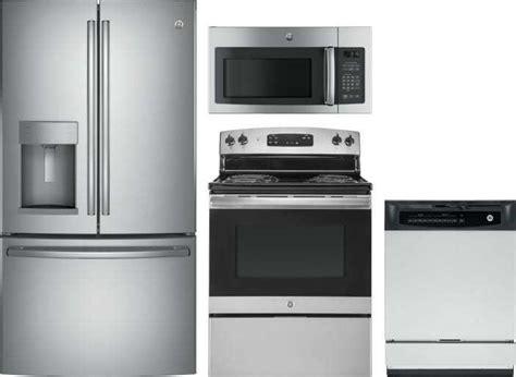 ge  piece appliance package  gfegskss refrigerator jbsrkss dual fuel range gsdkss