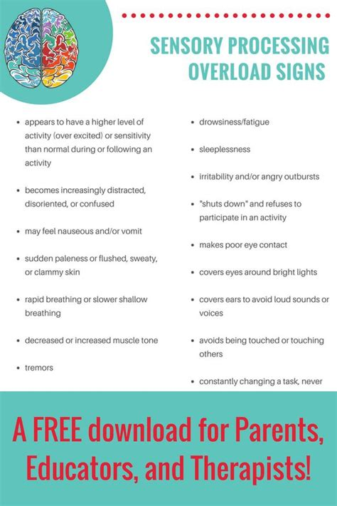 recognizing  signs  sensory overload  children sensory processing disorder symptoms
