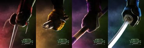 teenage mutant ninja turtles posters feature  colors  weapons collider