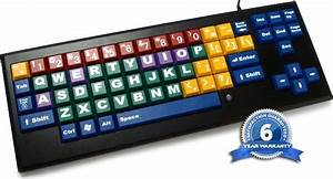 Myboard color coded keyboard with big keys uppercase for Large letter keyboard