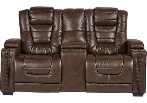 loveseat with storage compartment eric church highway to home chief brown power reclining