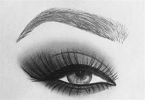 sketch, makeup, eye, eyebrow, brow - image #4125117 by ...