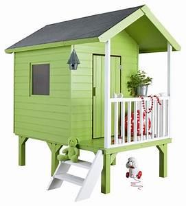 Maison Pour Enfant En Bois : merveilleux cabane de jardin en bois enfant 2 cabanes ~ Premium-room.com Idées de Décoration