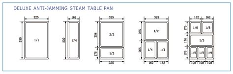 steam table pan size chart stainless steel steam table pans