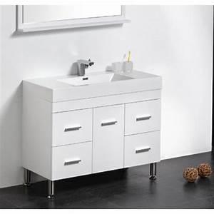 Meuble Salle De Bain A Poser : meuble de salle de bain simple vasque poser klassyk cubique avec miroir ~ Teatrodelosmanantiales.com Idées de Décoration