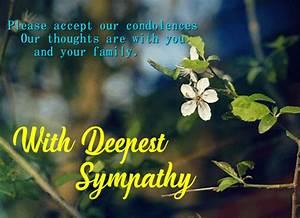 Card For Condolences Accept Our Condolences Free Sympathy Condolences Ecards