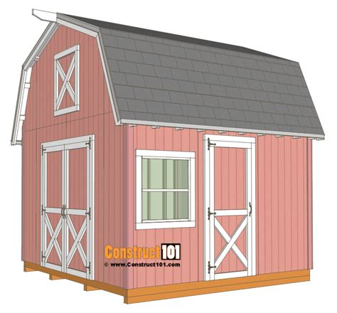 free 12x12 shed plans 12x12 barn shed plans with overhang free pdf