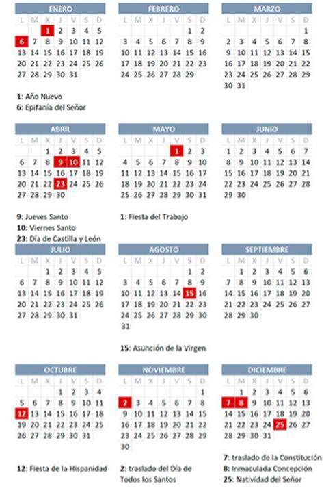 calendario laboral consulta todos los festivos