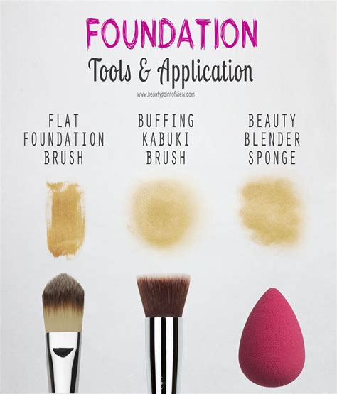 foundation tools application beauty point  view