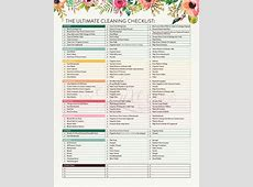 House Cleaning Ultimate House Cleaning Checklist