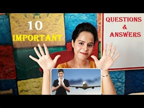 10 important questions for air hostess youtube
